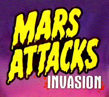 Mars Attacks Invasion sketch cards